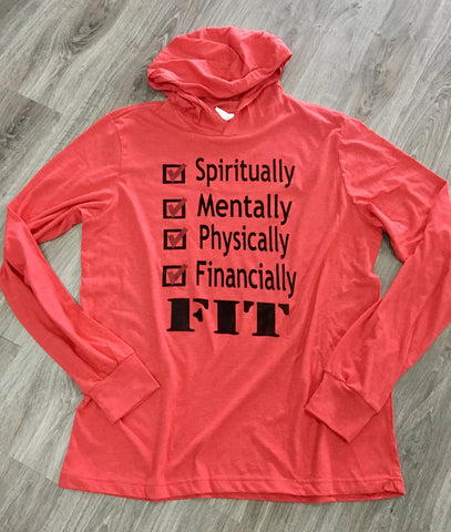 Spiritually Mentally Physically Financially FIT Hoodie Red - Beyond Wynn
