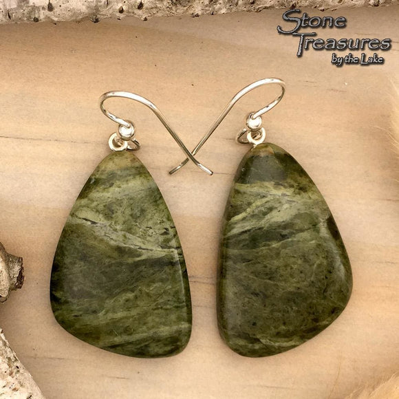 Lake Superior Epidote Earrings | Stone Treasures by the Lake