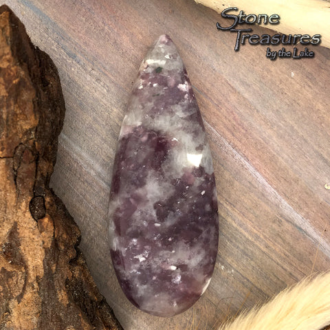 Lepidolite Cabochon - Stone Treasures by the Lake