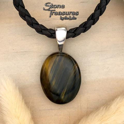 Variegated Tiger Eye Pendant - Stone Treasures by the Lake