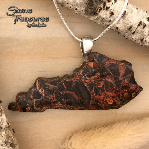 Painted Valley Agate Kentucky Pendant - Stone Treasures by the Lake