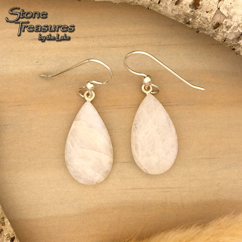 Moonstone Earrings - Stone Treasures by the Lake
