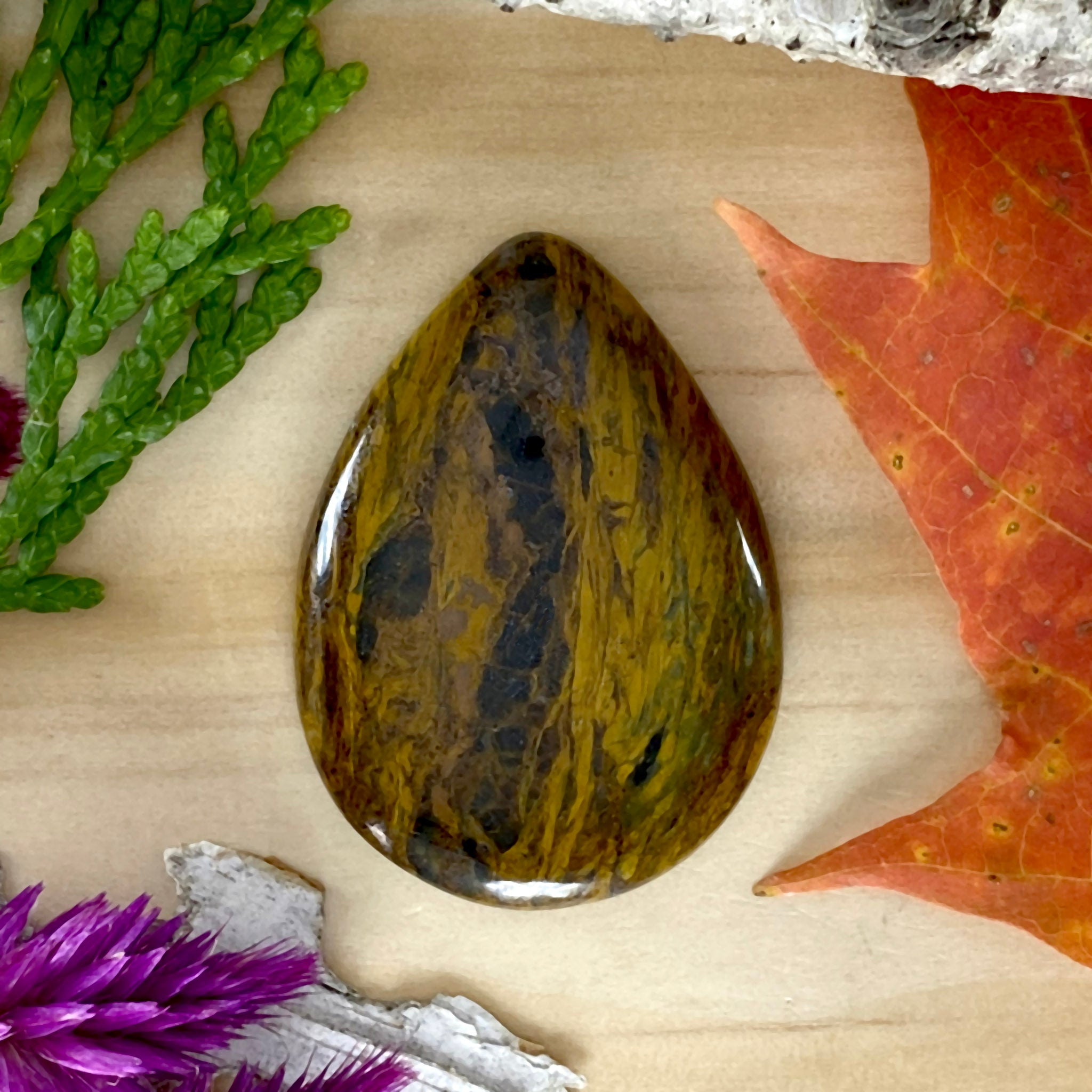 Tobacco Moss Agate - Stone Treasures by the Lake