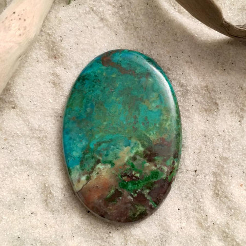 Parrot Wing Stone Cabochon - Stone Treasures by the Lake