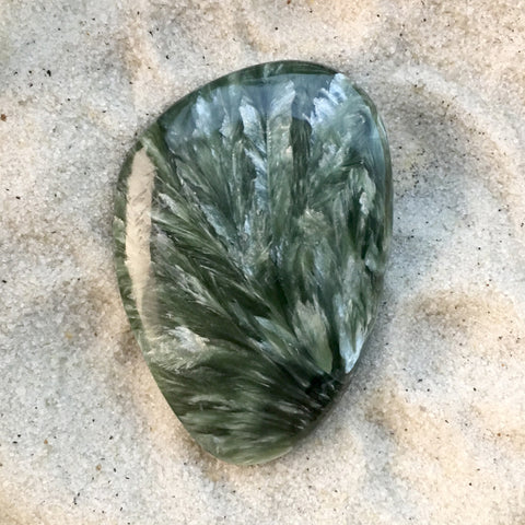 Seraphinite Cabochon - Stone Treasures by the Lake