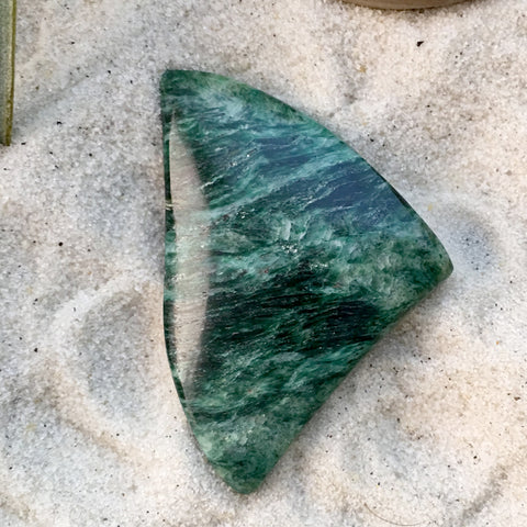 Fuchsite Cabochon - Stone Treasures by the Lake