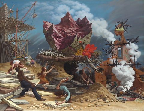 The Rock painting - Peter Blume