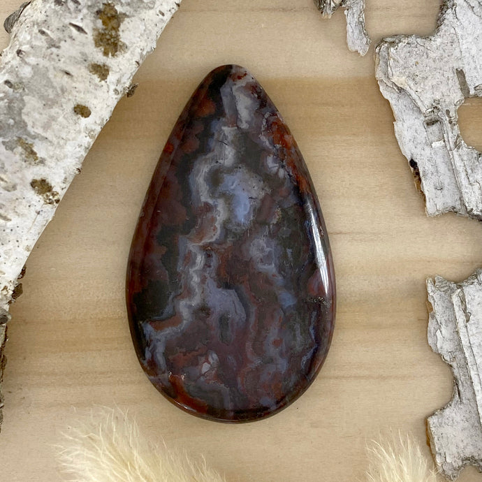 Cady Mountains Seam Agate Cabochon Front View III - Stone Treasures by the Lake