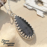 Hypersthene Pendant Necklace Front View - Stone Treasures by the Lake
