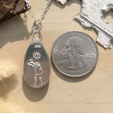Hypersthene Pendant Necklace Back View - Stone Treasures by the Lake