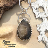 Thamnopora Fossil Pendant Necklace Front View2 - Stone Treasures by the Lake