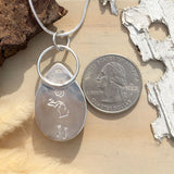 Thamnopora Fossil Pendant Necklace Back View - Stone Treasures by the Lake