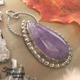 Amethyst Pendant Front View - Stone Treasures by the Lake