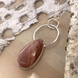 Moonstone Pendant Necklace Front View - Stone Treasures by the Lake