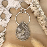 Laguna Lace Agate Pendant Necklace Front View - Stone Treasures by the Lake
