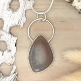 Lake Michigan Brecciated Chalcedony Pendant Necklace Front View - Stone Treasures by the Lake