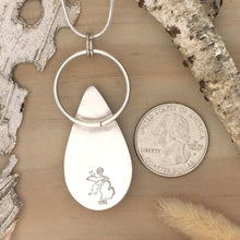 Load image into Gallery viewer, Scolecite Pendant Necklace Back View - Stone Treasures by the Lake