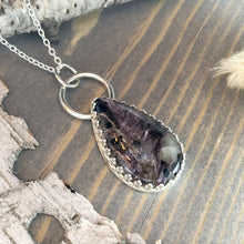 Load image into Gallery viewer, Charoite Pendant Necklace Front View - Stone Treasures by the Lake