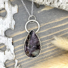 Load image into Gallery viewer, Charoite Pendant Necklace Front View II- Stone Treasures by the Lake
