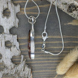 Sarape Jasper Pendant Necklace Side View- Stone Treasures by the Lake