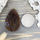 Maury Mountain Agate Cabochon Back View - Stone Treasures by the Lake