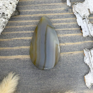 Yellow Skin Agate Cabochon Front View - Stone Treasures by the Lake