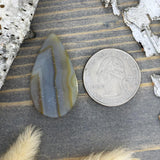 Yellow Skin Agate Cabochon Back View - Stone Treasures by the Lake