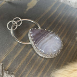 Amethyst Lace Pendant Front View II - Stone Treasures by the Lake