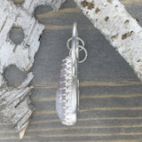 Amethyst Lace Pendant Side View - Stone Treasures by the Lake