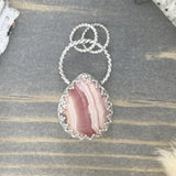 Rhodochrosite Pendant Front View III - Stone Treasures by the Lake