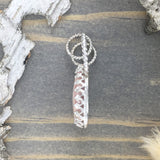 Rhodochrosite Pendant Side View - Stone Treasures by the Lake