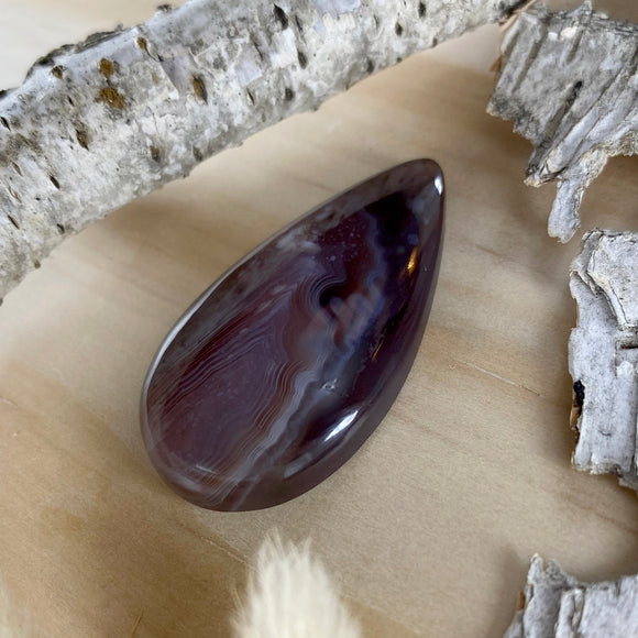 Botswana Agate Cabochon Front View II - Stone Treasures by the Lake