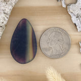 Rainbow Fluorite Cabochon Back View - Stone Treasures by the Lake