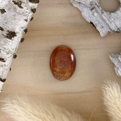 Sunstone Cabochon Front View - Stone Treasures by the Lake