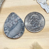 Crinoid Fossil Cabochon Back View - Stone Treasures by the Lake