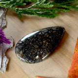 Pyrite Agate Cabochon Front View II - Stone Treasures by the Lake