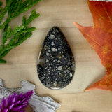 Pyrite Agate Cabochon Front View - Stone Treasures by the Lake