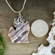 Load image into Gallery viewer, Kona Dolomite Michigan Pendant Necklace Back View - Stone Treasures by the Lake