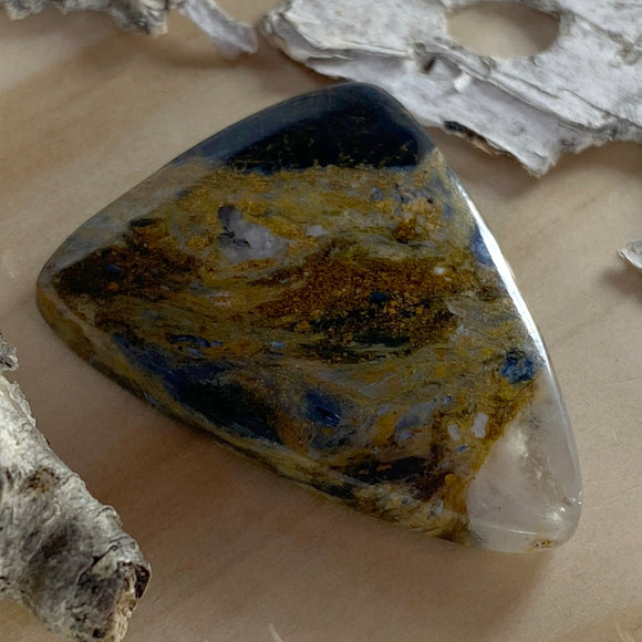 Pietersite Cabochon Front View - Stone Treasures by the Lake