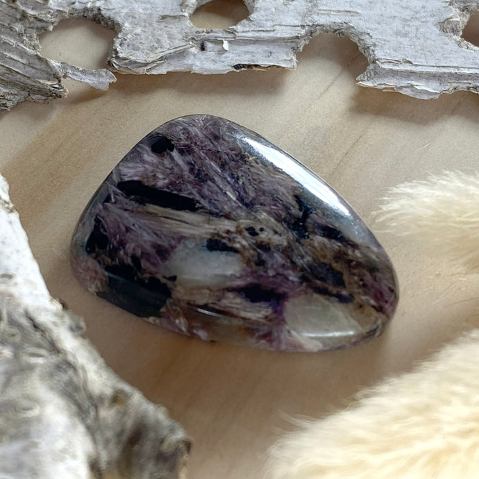 Charoite Cabochon Front View - Stone Treasures by the Lake
