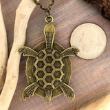 Apatite Stone Turtle Pendant with Necklace - Stone Treasures by the Lake