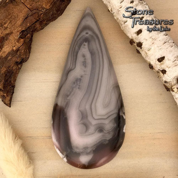 Champagne Agate Cabochon - Stone Treasures by the Lake