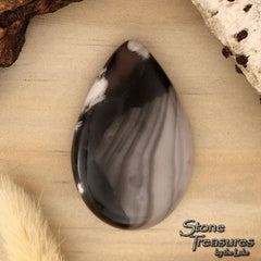 Champagne Agate Cabochon Front View - Stone Treasures by the Lake
