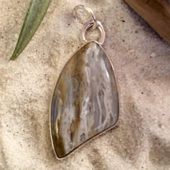 Chert with Chalcedony Pendant - Stone Treasures by the Lake