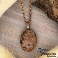 Load image into Gallery viewer, Dalmatian Stone Pendant with Necklace - Stone Treasures by the Lake