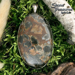 Fossil Hash Pendant - Stone Treasures by the Lake