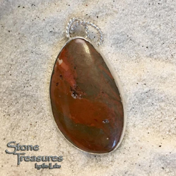 Lake Superior Jasper Pendant - Stone Treasures by the Lake