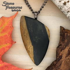 Lake Michigan Basalt Pendant with Necklace - Stone Treasures by the Lake