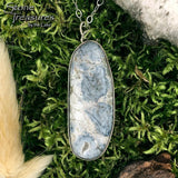 Lake Michigan Chert Stone Pendant with Necklace - Stone Treasures by the Lake