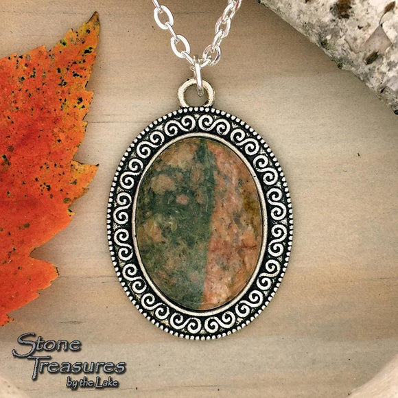 Lake Michigan Granite Pendant Necklace - Stone Treasures by the Lake